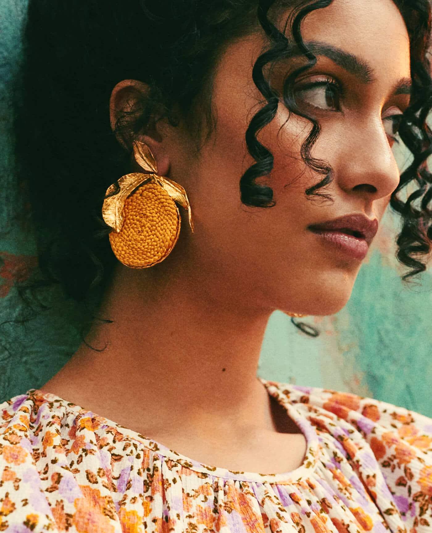 Boucles d'oreilles de la marque Elise Tsikis modéle Havana et Made in France