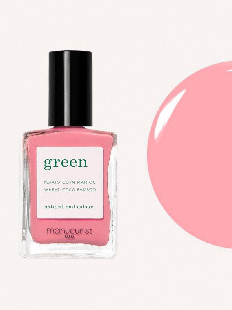 vernis à ongles green de la marque Manucurist couleur rose bonbon pink paradise