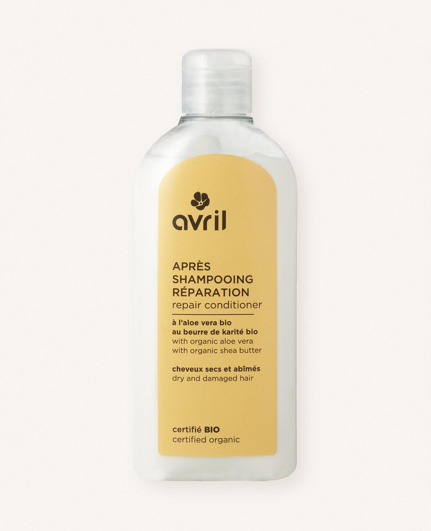 Après shampoing bio réparation de la marque Avril