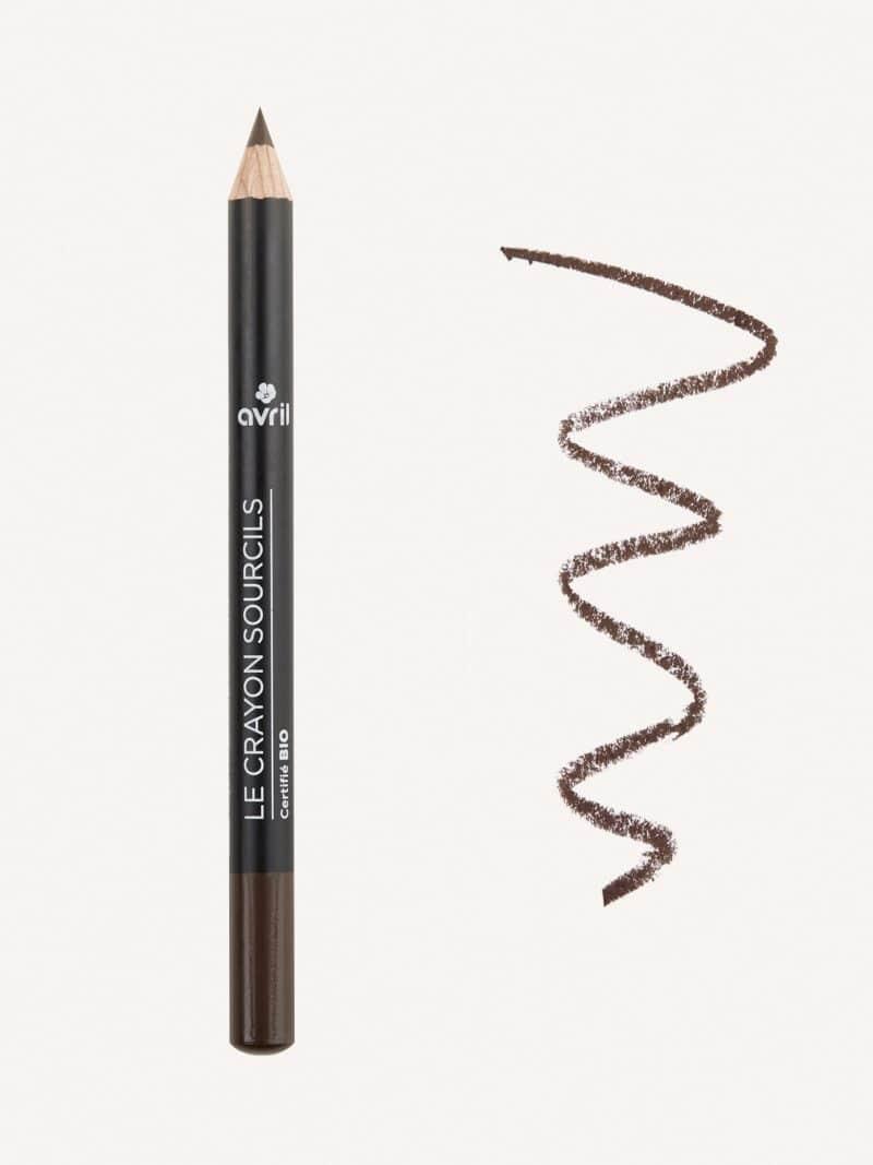 crayon sourcils bio brun de la marque Avril