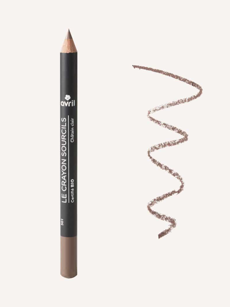 crayon sourcils bio châtain clair de la marque Avril
