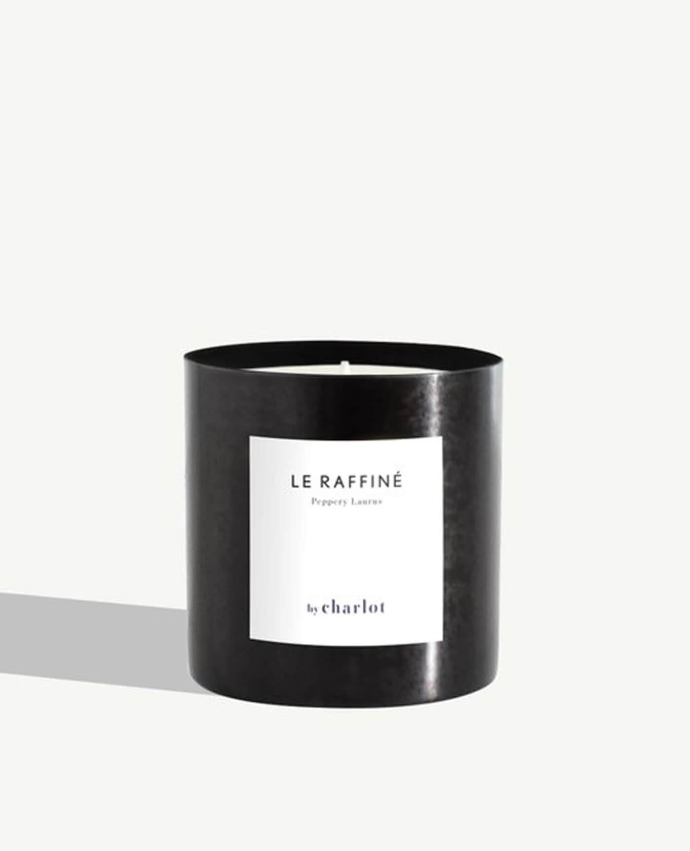 By charlot bougie le raffiné noir graphite bergamote citron menthe poivrée cardamone