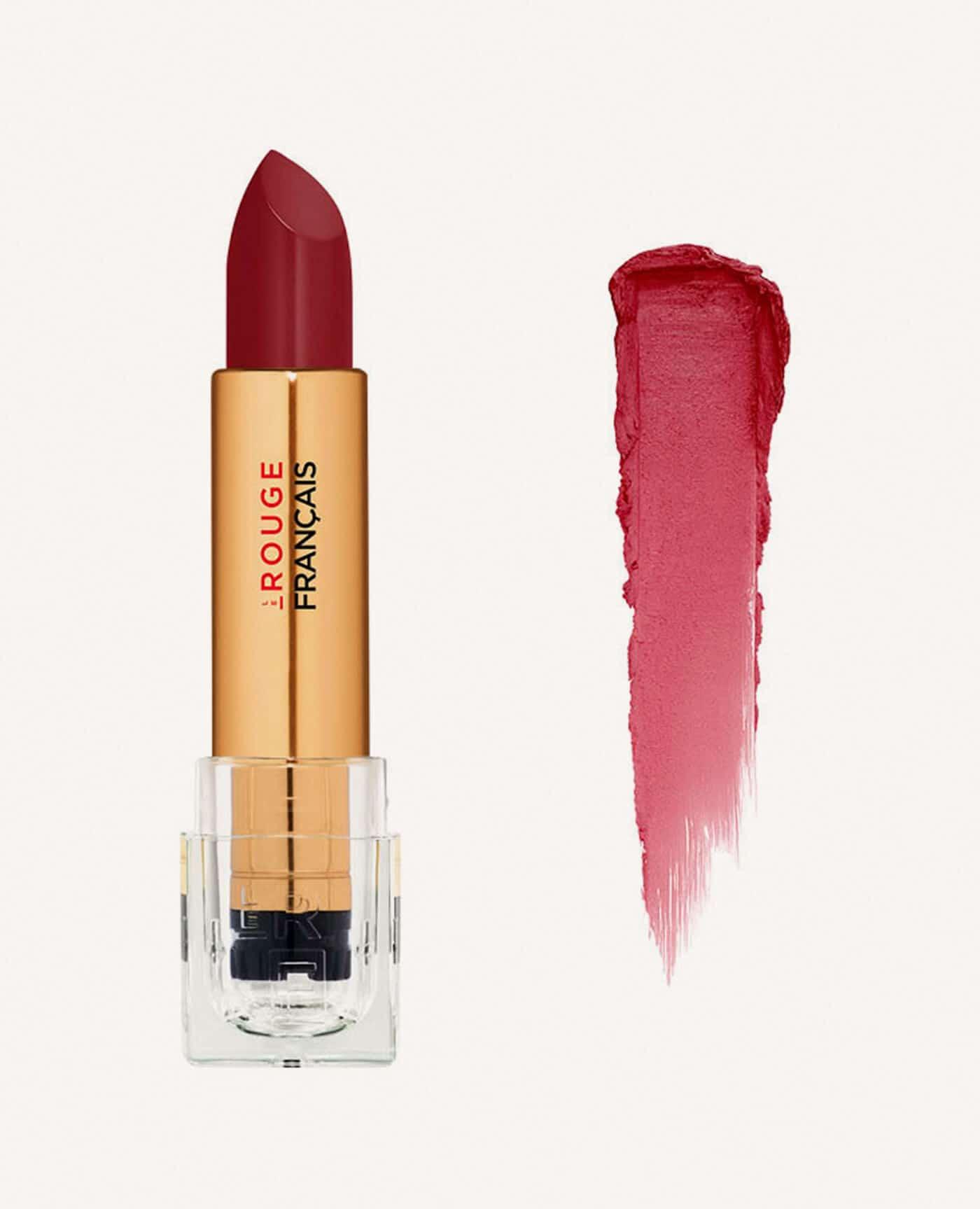 Rouge à lèvres rechargeable Le rouge français bio et vegan couleur rouge de la marque Le rouge Français Made in France