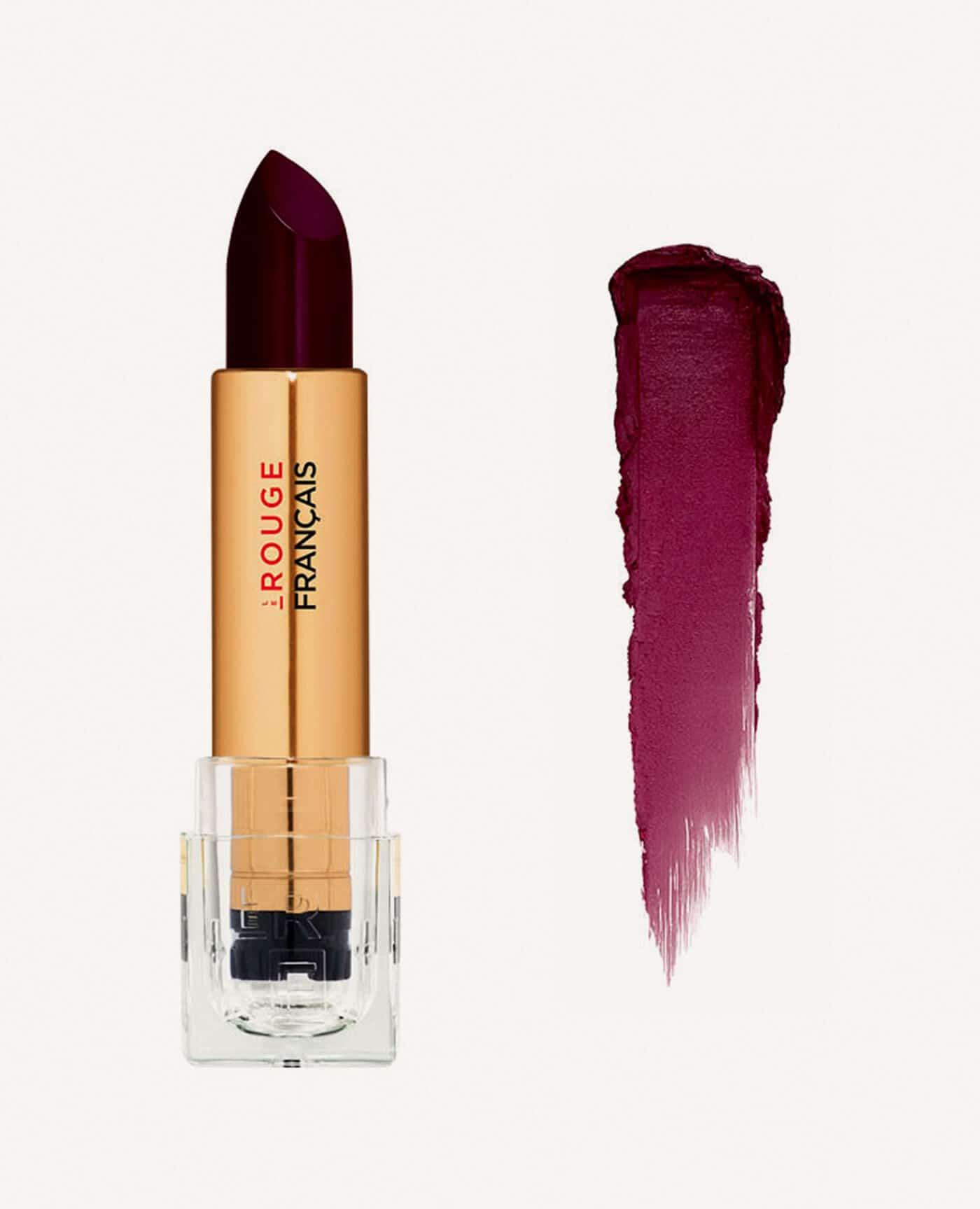 Rouge à lèvres rechargeable Braziline bio et vegan couleur bordeaux de la marque Le rouge Français Made in France