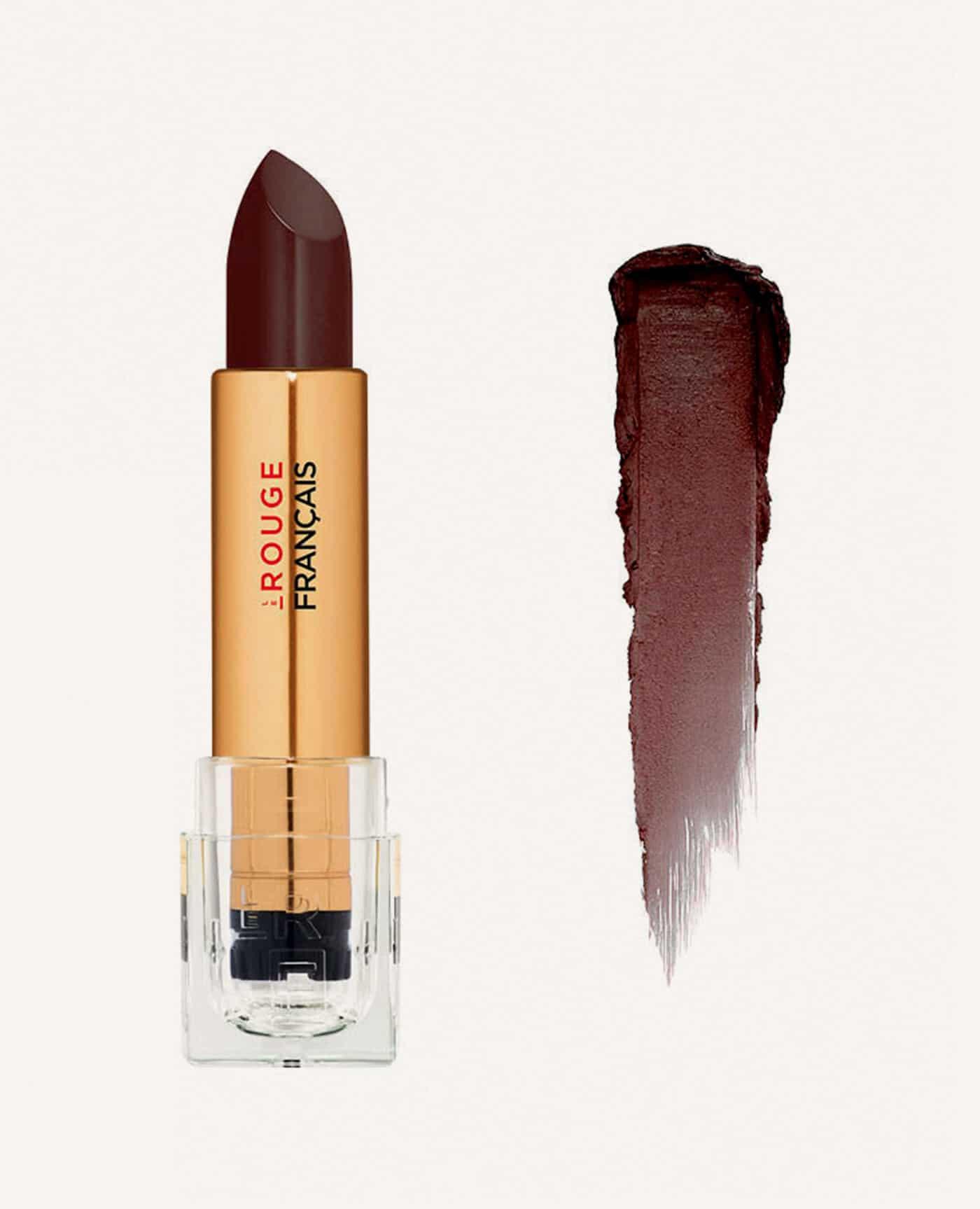 Rouge à lèvres rechargeable Yorouba bio et vegan couleur brun à bordeaux de la marque Le rouge Français Made in France