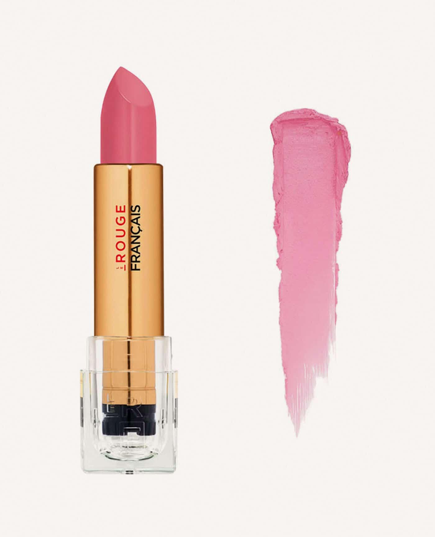 Rouge à lèvres rechargeable Neitsabes bio et vegan couleur rose de la marque Le rouge Français Made in France