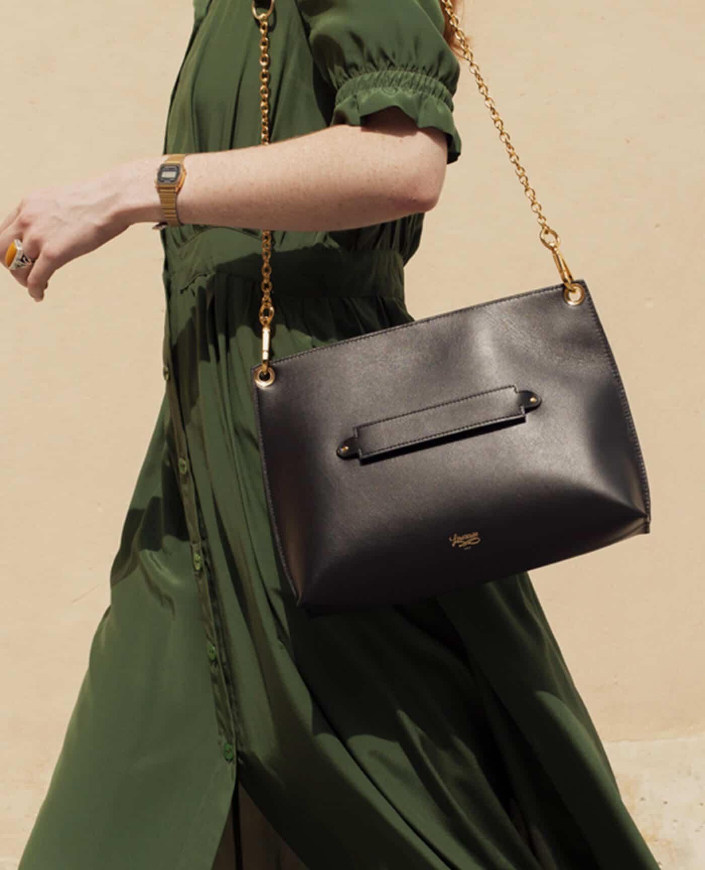 Sac Milo noir made in france de la marque Louvreuse