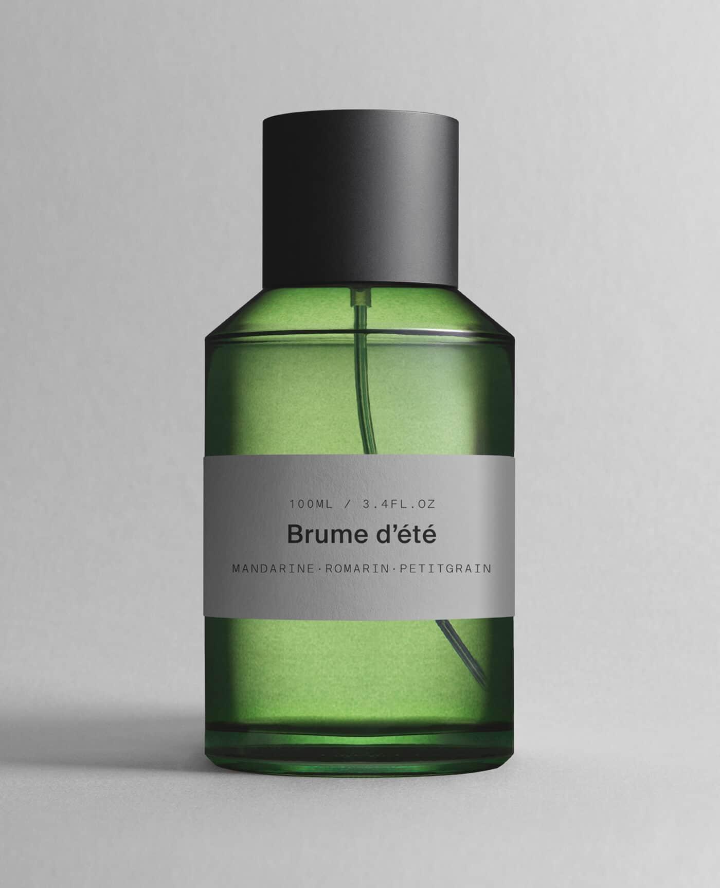 Parfum brume d'été senteur mandarine, romarin et petit grain de la marque MArie Jeanne grasse made in france